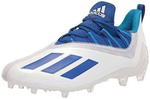adidas Men's Adizero Running Shoes, White/Team Royal Blue/Solar Blue, 12