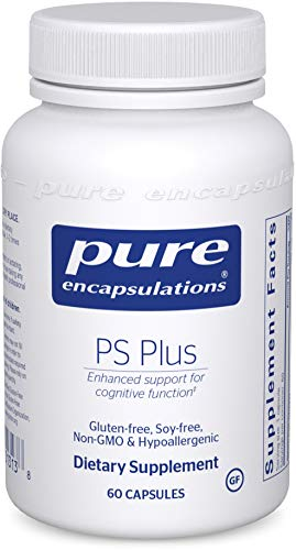Pure Encapsulations - PS Plus - Hypoallergenic Formula for Memory, Mental Processing and Overall Cognitive Function - 60 Capsules
