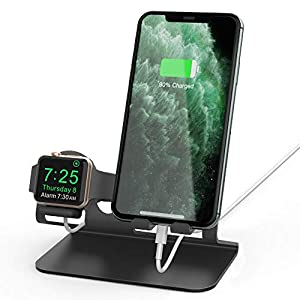 Ahastyle Compatiable With 2 In 1 Universal Desktop Stand Holder Iwatch And Iphone 11 Pro Xs Xs Max Xr X 8 7 6 6s