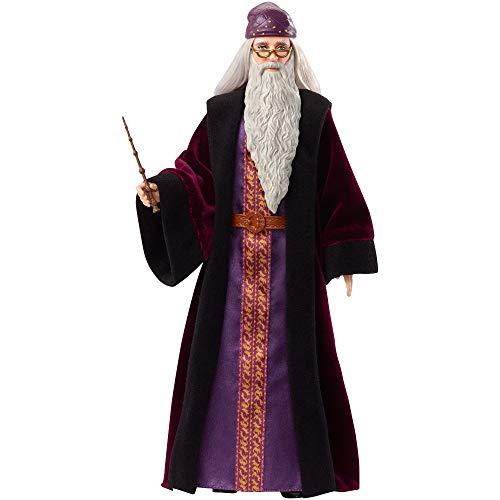 Mattel - FYM54 Harry Potter und Die Kammer des Schreckens Dumbledore Puppe mit Robe, Uniform und Zauberstab, Harry Potter Spielzeug, ca. 25cm