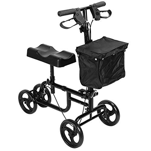 Uxsiya Knie-Walker-Roller Robuster Knie-Roller Tragbar für Outdoor-Aktivitäten einiger Amputierter zur Sicherheit bei der Aufbewahrung Persönlicher Gegenstände