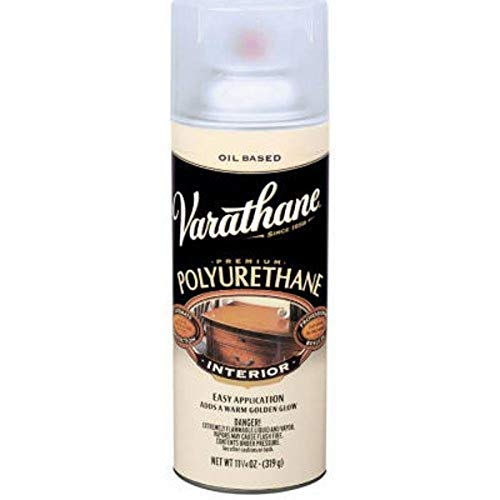 RUST-OLEUM 9181 Varathane Polyurethane Wood Finish Spray, Satin, 11.25 oz, Multicolor