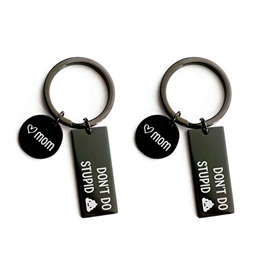Crazyfly Funny Keychain, Black Keychain, Key Rings Funny Keyring Tags Present Gift for Family Friends Son Daughter