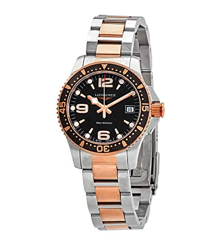 Longines Hydroconquest Diving Quartz Black Dial Ladies Watch L3.340.3.58.7