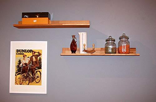 Casa Massivholz Wandregal 100cm Wandboard Kernbuche geölt