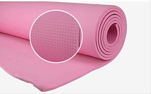 NDYD Mats de Yoga Manta de Ejercicios Antideslizantes de 6 mm de 6 mm 182 * 60 * 0.6cm (Color: a) DSB (Color : B)