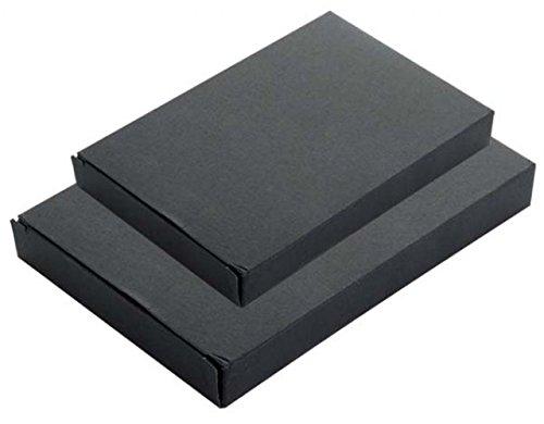 Ten Box für EIN Tagebuch in schwarzem Karton cod.ELBOX 63 cm 21x14x2h by Varotto & Co.