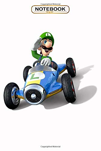 Notebook: Mario Kart Wii Racing , Wide ruled 100 Pages Bank Lined Paperback Journal/ Composition Notebook/Book Gifts For Kids, boys, girls