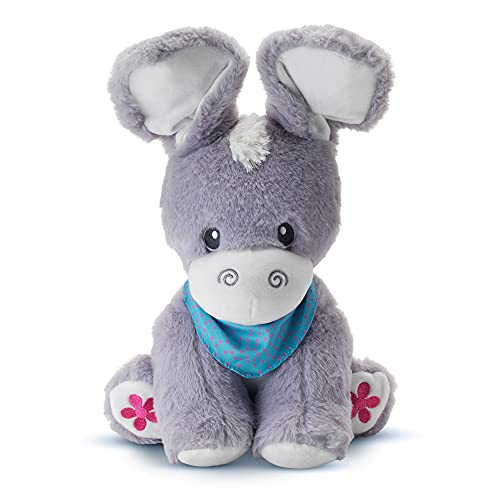 KiddoLab Peek-A-Boo Donkey Plush Toys - Soft Stuffed Animals with Moving Ears - Musical Toys for Toddlers with Songs, Nursery Tunes - Day & Night Play Lullabies - Baby Toys for 1,2,3,4 Years Old