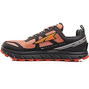 Altra Footwear Men's Lone Peak 3.0 Neoshell Trail Running Shoe,Black/Orange,US 8