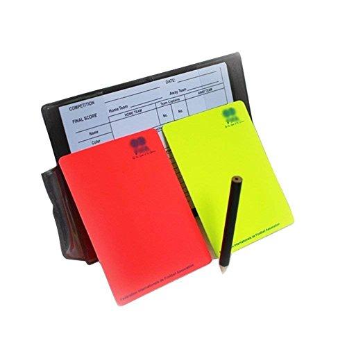 A-NAM, set da cartellini per arbitro, kit per calcio, con cartellino rosso e giallo