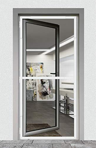 Nematek® Alu Insektenschutz Teleskoprahmensystem für Türen - kein Zuschneiden - Fliegengitter Mückenschutz für Balkontür (anthrazit)