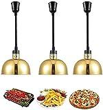 Lámpara de calor Calentador de alimentos 3 Paquete Lámpara de calor ajustable Lámpara de buffet comercial para fiestas de catering, Luz de aislamiento telescópico Lámpara de calor infrarroja, 250W