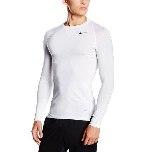 Nike Herren Kompressionsshirt Pro Cool Compression LS, white, L, 703088-100