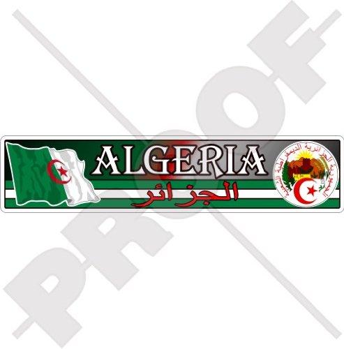 ALGERIA Algerijnse Vlag-Zaal, Nationaal Embleem 180mm (7.1