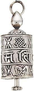silver prayer wheel pendant