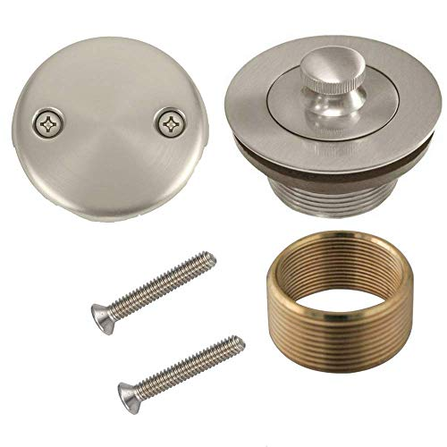 Wholesale Plumbing Supply Conversion Kit Bathtub Tub Drain Assembly, All Brass Construction - Brushed Nickel