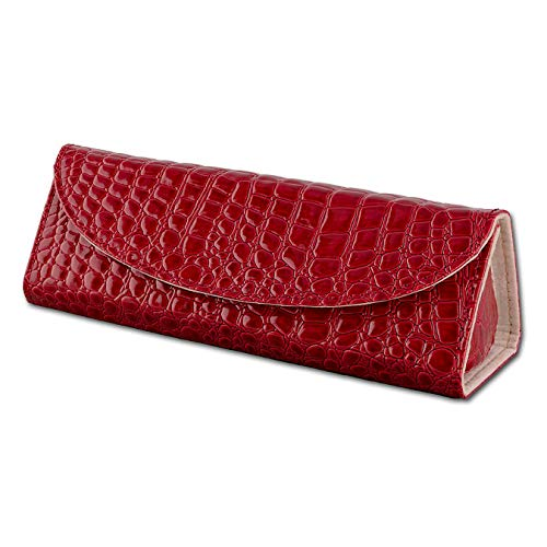 SilberDream portagioie da viaggio in pelle rossa per braccialetti, collane, Orecchini e Ciondolo a forma di tre portagioie rettangolare per trasporto drachensilber LB173R