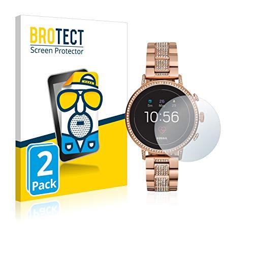 BROTECT 2X Entspiegelungs-Schutzfolie kompatibel mit Fossil Q Venture HR (4.Gen) Bildschirmschutz-Folie Matt, Anti-Reflex, Anti-Fingerprint