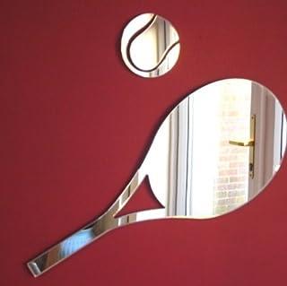35cm x 15cm /& 3cm Palla da tennis specchio Racchetta da tennis specchio
