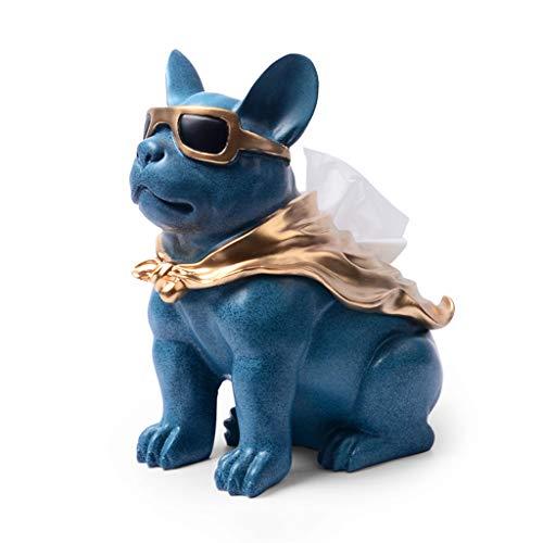 Lrxq Creatieve blauwe puppy tissuebox, woonkamer, salontafel, papieren pompbox, moderne minimalistisch, voor thuis of op kantoor