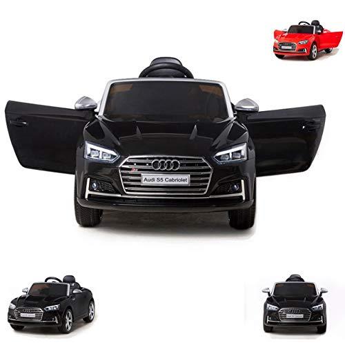 Moni Coche eléctrico para niños Audi S5 Cabrio metálico HL258 EVA Neumáticos...