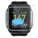 VacFun 4 Piezas Filtro Luz Azul Protector de Pantalla Compatible con Adidas miCoach Smart Run, Screen Protector Película Protectora (Not Cristal Templado) Anti Blue Light Filter New Version