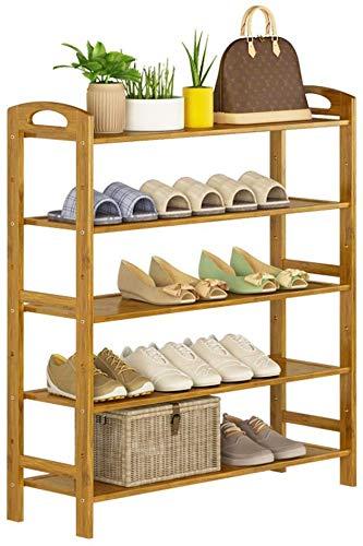 YLCJ schoenenrek, verticaal, voor schoenen, 5 planken, bamboe, 25 paar schoenen, 90 x 26 x 88 cm (breedte x diepte x hoogte)