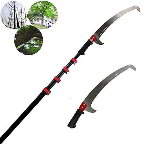 Extendable Pruning Saw,Use on Pole or By Hand/Long Extension Pole Saw/Telescopic Tree Pruner...