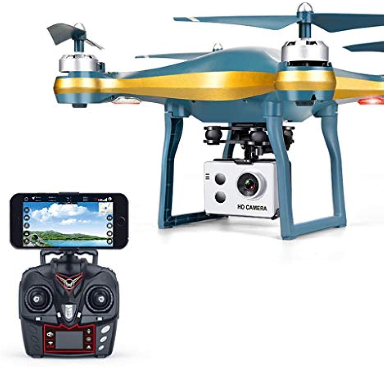 DIANEND 2.4 GHZ 4CH RC Quadrocopter W-LAN FPV 720P Breit Winkel HD Kamera Drohne GPS-K10 (Gold)