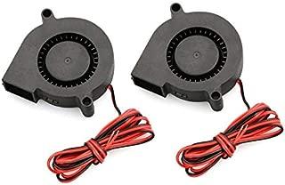 BianchiPatricia 2 PCS Mini Cooling Fan 5015 DC 12V Radial Turbo Blower Fan For 3D Printer