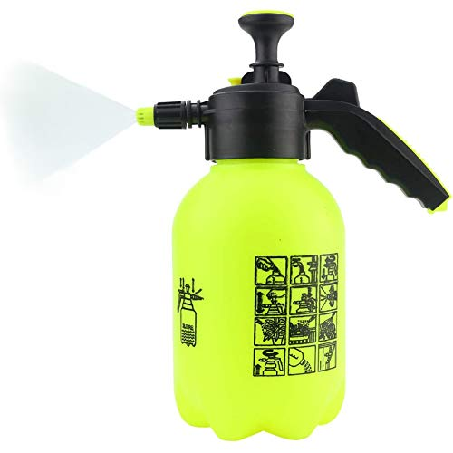 Sunnyglade Hand Held Garden Sprayer Portable Lawn Pressure Pump Sprayer Adjustable Nozzle Manual Water Sprayer 1/2 Gallon