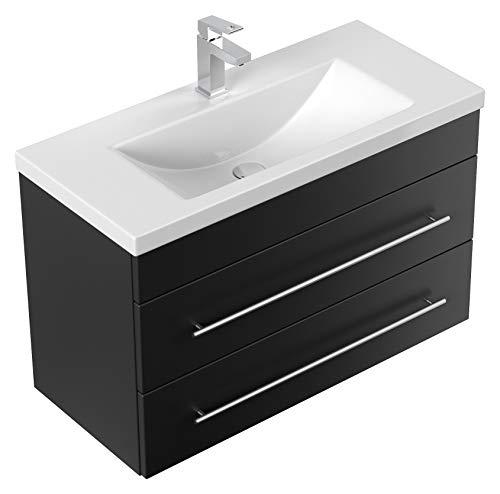Mueble de baño Mars 800 SlimLine Negro brillo sedoso