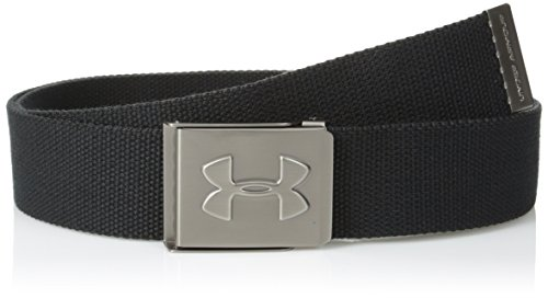 Under Armour Men's Webbing Golf Belt, Black (001)/Graphite, One Size Fits All