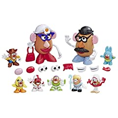 Inspired by Disney/Pixar toy story 4 characters: Andy's playroom potato pack toy is chock full of parts and pieces to create beloved characters from the Disney/Pixar toy story 4 movie 61 pieces: so many parts and pieces; Kids can mix and mash them to...