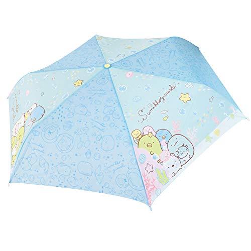 すみっコぐらし折りたたみ傘子供用手開きキャラクター折畳傘すみっコぐらしリンブルー53cm90318
