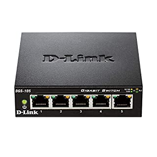 D-Link DGS-105 Switch 5 Porte Gigabit, Struttura in Metallo, Nero (B000BC7QMM) | Amazon price tracker / tracking, Amazon price history charts, Amazon price watches, Amazon price drop alerts