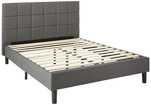Best Price Mattress Full Bed Frame - Zoe Upholstered Platform Beds with Tufted Headboard and Wooden Slats Support (No Box Spring Needed), Full Size