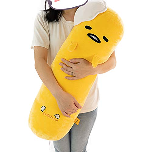 futurecos Cute Gudetama Plush Toy Round Pillow The Lazy Egg Stuffed Doll Toys Decorative Throw Pillows Bed Decor Gift for Girls Boys 68CM