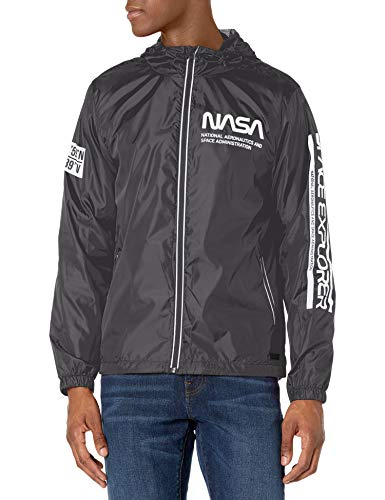 Southpole Young Men Windbreaker Jacket, Black, X-Large