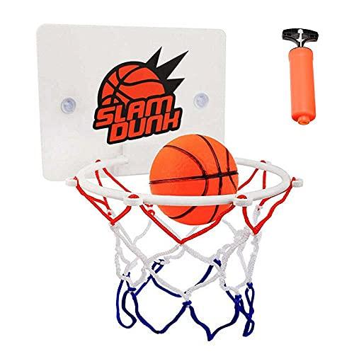 FXQIN Canasta Baloncesto Ventosas Mini Juego de Baloncesto con Tablero Dentro de Mini Aro de Baloncesto en la Sala de Oficina Habitación Jardín Basketball Hoop para Niños