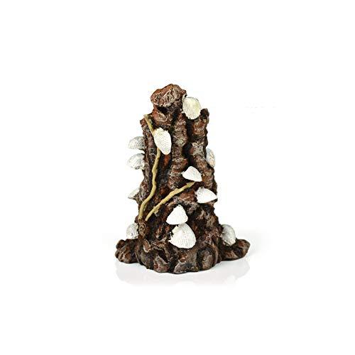 OASE biOrb Muschelbaumstumpf Ornament - Aquarium-Deko in Form eines Baumstamms mit Muscheln, Zubehör fürs Aquarium-Becken, in Weiß