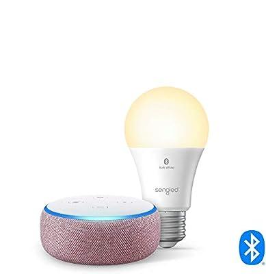 Echo Dot (3rd Gen) - Smart speaker with Alexa - Plum Sengled Bluetooth bulb from
