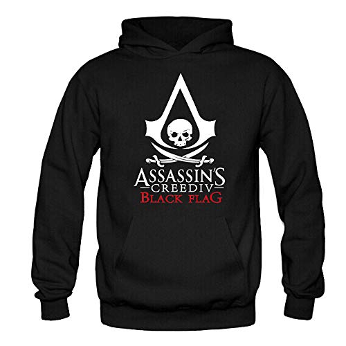 Assassin'S Creed Sudadera Estilo Deportivo Impreso Pullover Jerséis Sudaderas Transpirables Sudaderas Estampadas Jersey de Manga Larga Assassin'S Creed Pullover