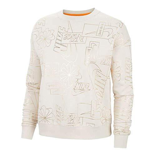 Nike Icon Clash Fleece Aop Sweatshirt Femme Sweatshirt Femme Beige FR : M (Taille Fabricant : M)