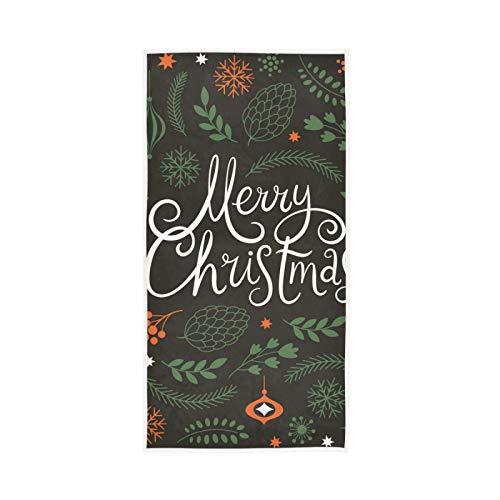 RURUTONG Paquete de 1 toalla de mano de Navidad suave de secado rápido toalla de baño para cocina, natación, spa, gimnasio, decoración 30 x 15 pulgadas 2010251