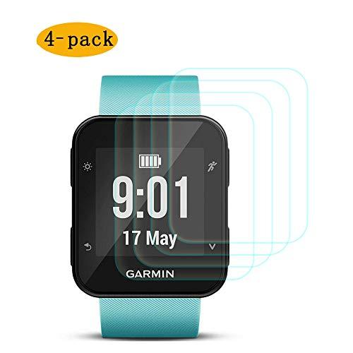 CKANDAY 4 Pack Protector de Pantalla Compatible con Garmin Forerunner 35, Películas Protectoras de Vidrio Templado Anti-Scratch Cobertura Completa de Alta definición Smartwatch
