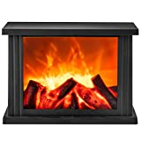 GloBrite Fireplace Lamp Led Flame Effect Log Fire Place Ornaments Home Decor (Large)