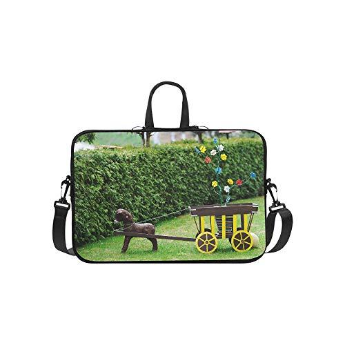 Laptop Umhängetasche Umhängetasche Fall Notebook Griff Ärmel Neopren Soft Carring Tablet Reisetasche, alte Holzspielzeug Laptop Handtaschen 14