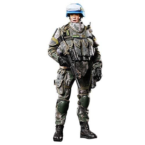 Batop 1/6 Soldat Modell, 12 Zoll Soldat Actionfigur Modell Spielzeug Militär Figuren Zubehör - Chinesische Friedenswächter